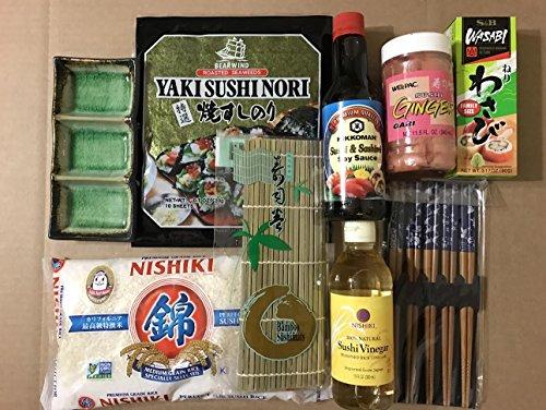 Japanese Sushi Complete Making Kit By KC (Sushi Starter Kit)