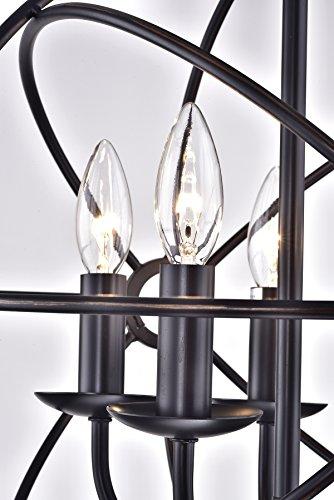 Edvivi Dover 5-Light Oil Rubbed Bronze Sphere Orb Cage Globe Flush-Mount Chandelier Modern Farmhouse Lighting