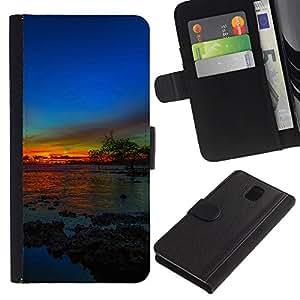 Planetar® Modelo colorido cuero carpeta tirón caso cubierta piel Holster Funda protección Para SAMSUNG Galaxy Note 3 III / N9000 / N9005 ( more zakat solnce )