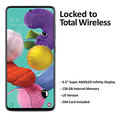 Total Wireless Carrier-Locked Samsung Galaxy A51 Prepaid Smartphone - Blue - 128GB - Sim Card Included – CDMA