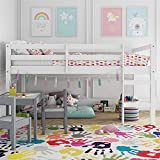 Dorel Living Milton Junior Twin Loft Bed, White