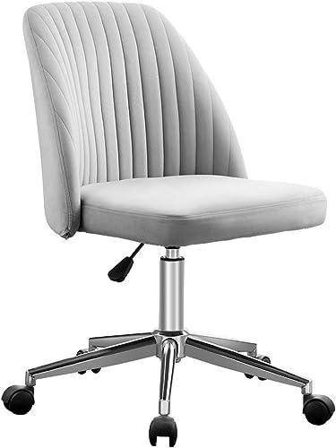 VANSPACE Home Office Chair Velvet Vanity Chair Task Chair Mid-Back Ergonomic Chair