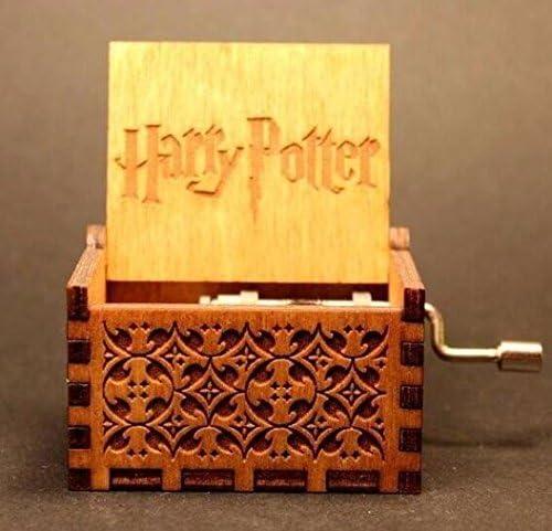 AE Brown Harry Potter Caja de música de madera tallada, manivela ...