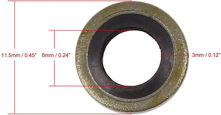 Water Oil,Fuel Resistant *Top Quality Pack of 8 Dowty seal bonded washer M12