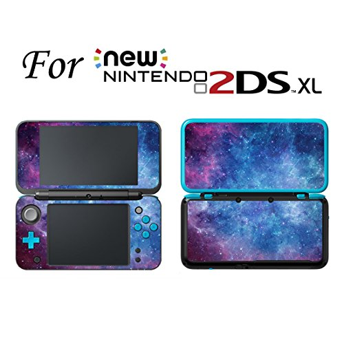 Gebaisi Vinyl Skin Sticker Protector for Nintendo 2DS XL/LL Galaxy Nebular
