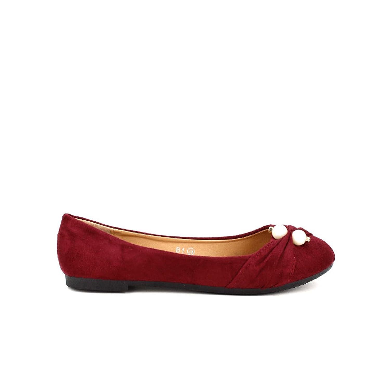 cheap Cendriyon, Ballerines Bordeaux COCO PERLE Chaussures
