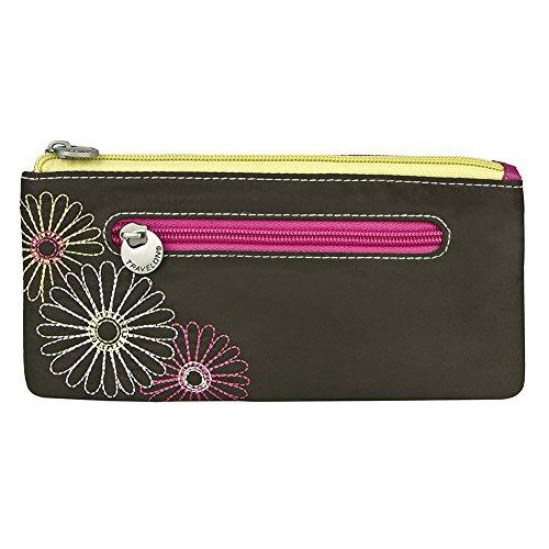 Wristlet Travelon (Travelon Safe Id Double Zip Clutch Wallet, Black, One Size)