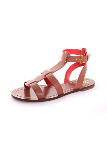 19a90474488 Tory Burch Patos Gladiator Sandal (6.5) Perfect Cuoio