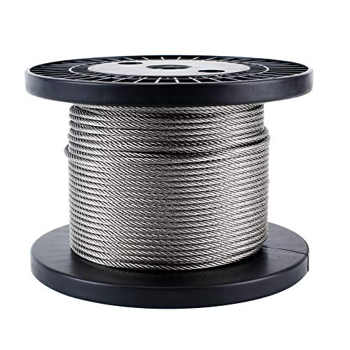 Zoostliss 100Ft Stainless Steel Aircraft Wire Rope 1/8