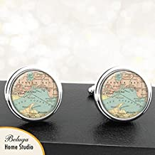 Map Cufflinks Port Arthur Lake Superior Fort William Ontario Canada Map Cufflinks Handmade Cuff Links Antique Maps