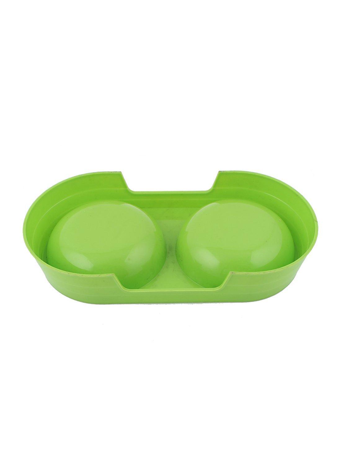 Amazon.com: eDealMax Perro de mascota perrito de plástico de Doble alimentador del agua Alimentación Alimentación Bowl Verde: Pet Supplies