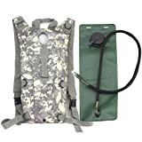 GQMART 3L Hydration Water Bag Pouch Backpack Bladder For Hiking Climbing Survival