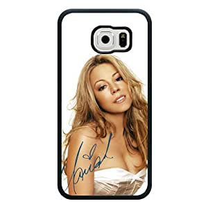 Galaxy S6 Case, Customized Mariah Carey Black Soft Rubber TPU Samsung Galaxy S6 Case, Mariah Carey Galaxy S6 Case(Not Fit for Galaxy S6 Edge)