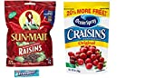 Dried Fruit Variety Pack. Sun Maid California Raisins and Ocean Spray Craisins. Convenient One-Stop Shopping For 2 Popular Snack Choices. Vegetarian Friendly. Includes 5 pack Gum Sample.