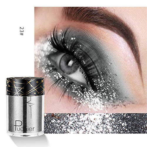 (Glitter Eye Lips Makeup 12 Color Shimmer Pigment Festival Glitter Face Eye Powder Diamond Gold Red Waterof Make Up)