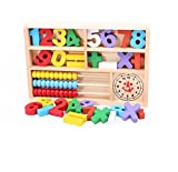 Aibearty Montessori Toys of Wooden Math Box, 4-in-1