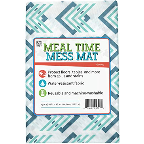 For Sale! S&T Inc. STS Baby 539701 Water Resistant, Machine Washable Meal Time Mess Mat - 42 X 42,...