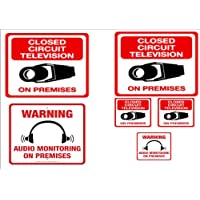 3 pack #209 AUDIO & VIDEO RECORDING SIGNS - U.S. FEDERAL LAW MANDATES AUDIO RECORDING NOTIFICATION 3 Matching Decals & Signs