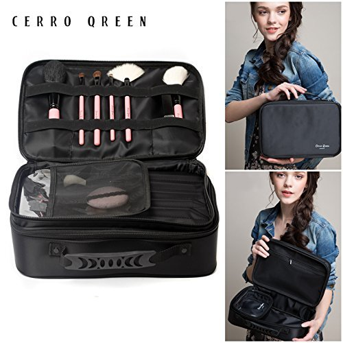 CERROQREEN-Professional-Beauty-Artist-Storage-Waterproof-Double-Layer-Makeup-Cosmetic-Tools-Brushes-Bag-OrganizerfFree-Mini-Makeup-Bag-by-CERROQREEN