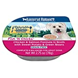 Natural Balance Delectable Delights Wet Dog Food Cups, Fish 'N Chicks Chicken Salmon Formula Broth With Sweet Potato Green Beans, 2.75 Oz (Pack Of 24) For Sale