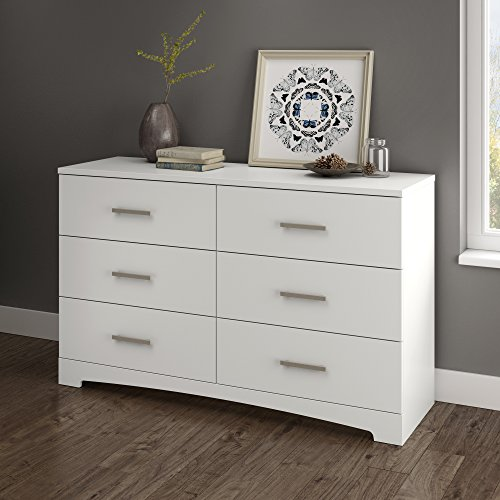 South Shore Gramercy 6-Drawer Double Dresser, Pure White by South Shore