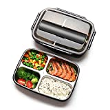 Xixihaha 4 Compartment Bento Lunch Box Stainless Steel Portable Picnic Office School Food
