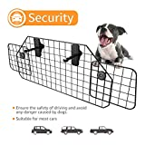 SUKI&SAMI Dog Car Barrier Adjustable Pet Barrier for SUVs,Cars and Vehicles,Heavy Duty Wire Adjustable,Smooth Design,Black