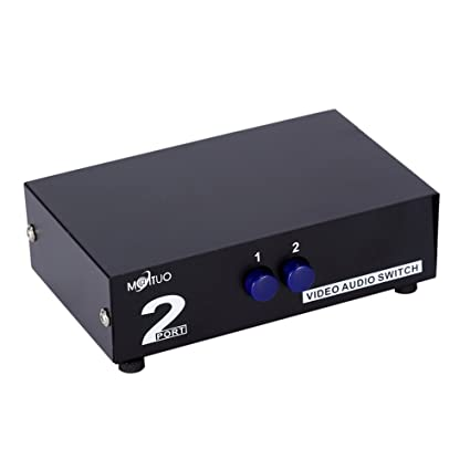 2 Port Video Audio Av Switch - 2 Input 1 Output,Standard RCA Switcher Composite