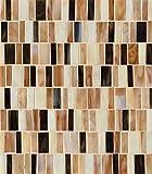 Bedrosians GLSRETPABRMP ''Retrospect'' Mosaic with Random Pattern, 12'' x 13'', Parfait Blend