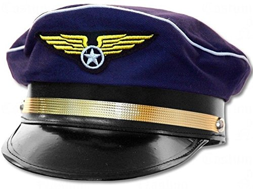 [Jacobson Hat Company Adult Navy Pilot Hat] (Military Hat Costumes)