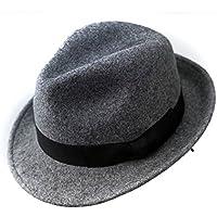 Wool Trilby Hat Felt Panama Fedora jazz Sun Beach style With Black band for Man Cap