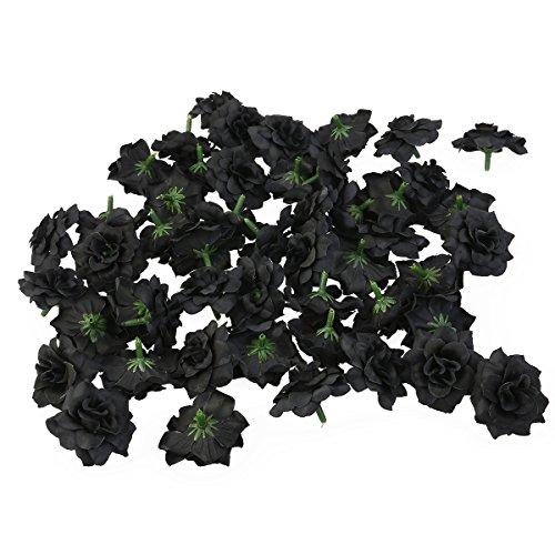 Tinksky-50pcs-Silk-Rose-Flower-Heads-for-Hat-Clothes-Album-Embellishment-Decoration-Black
