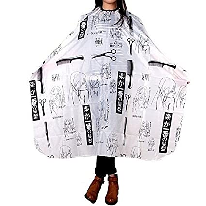 Sweet Pea Hairdressing Salon Apron Hair Cloth Waterproof Shampoo Cutting Cape Black and White