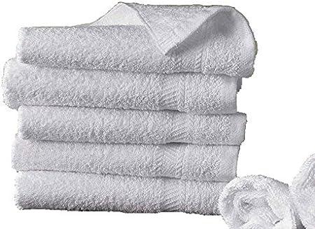 m/² algod/ón egipcio del hotel BLANCO 5 toallas de ba/ño 50x100 cm 500gr