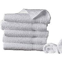 ORPHEEBS 5 draps de Bain de 30x50 cm à 100x180 cm 500gr/m² Pur Coton égyptien Blanc Hotel