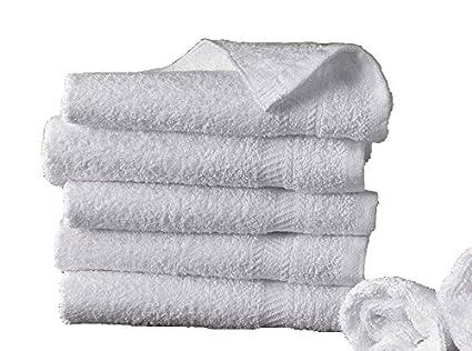 5 toallas de baño 50x100 cm 500gr / m² algodón egipcio del hotel BLANCO