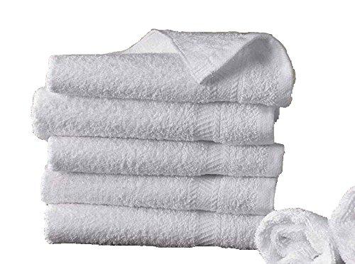 5 toallas de baño 50x100 cm 500gr / m² algodón egipcio del hotel BLANCO product image