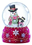 Precious Moments Company Snowman with Penguin Waterball