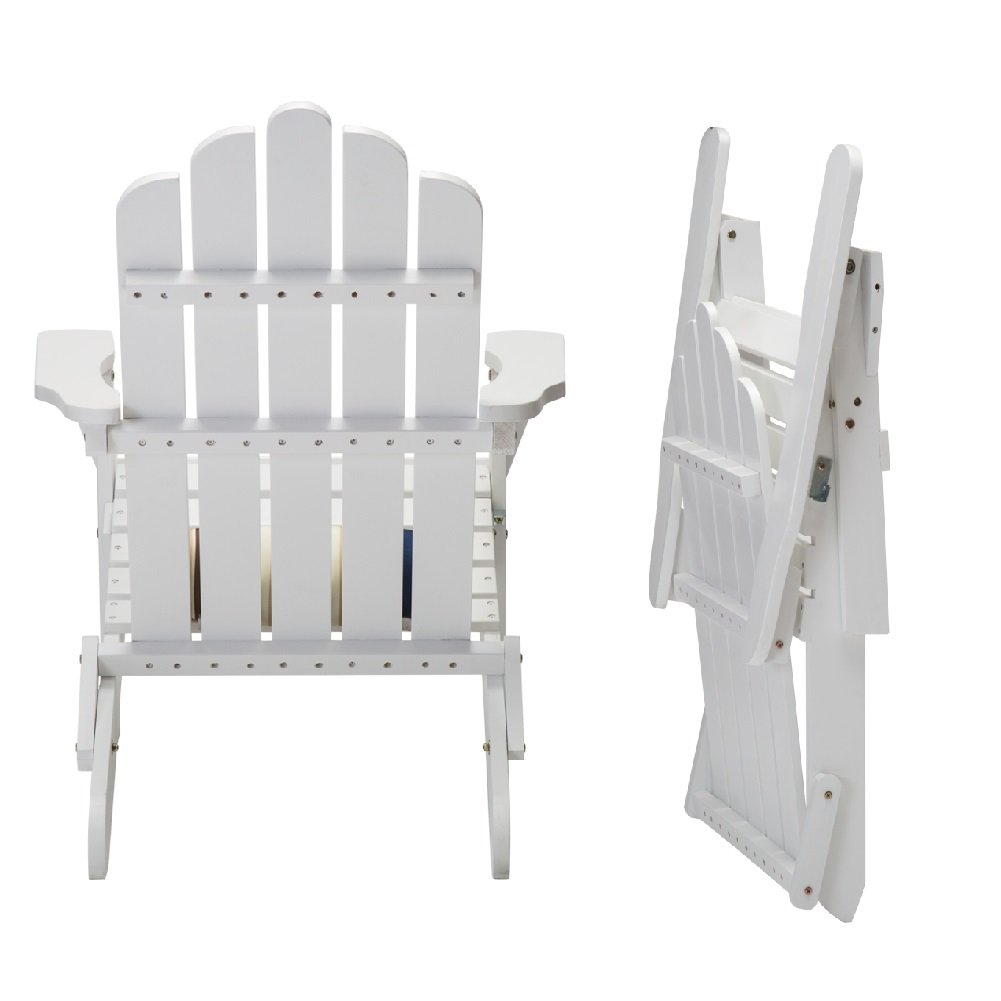 DJL White Wood Folding Adirondack Chair by DJL (Image #3)
