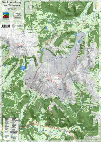 Download Volcan Lonquimay and Volcan Tolhuaca 1:50,000 Mountain Map pdf