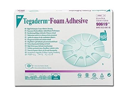 3M TegadermTM - Apósito adhesivo de espuma de poliuretano para codos y talones - 14 x 14 cm - Paquete de 5 unidades: Amazon.es: Industria, empresas y ciencia