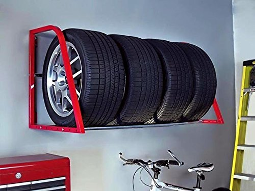 Tire Rack Multiple Wheel Loft Adjustable Wall Mount Support
