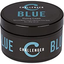 Matte Styling Cream - Challenger Blue - Medium Firm Hold - Best Men's Styling Cream Pomade - Water Based, Clean & Subtle Scent, Travel Friendly. Men's Hair Wax, Fiber, Clay, Paste All In One