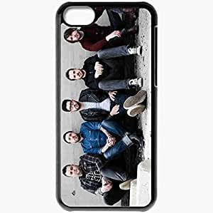 Personalized iPhone 5C Cell phone Case/Cover Skin Alexisonfire Band Glasses Shoes Relax Black