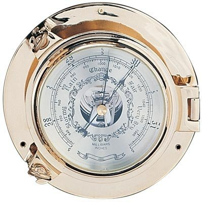 5.5'' Polished Brass Porthole Barometer
