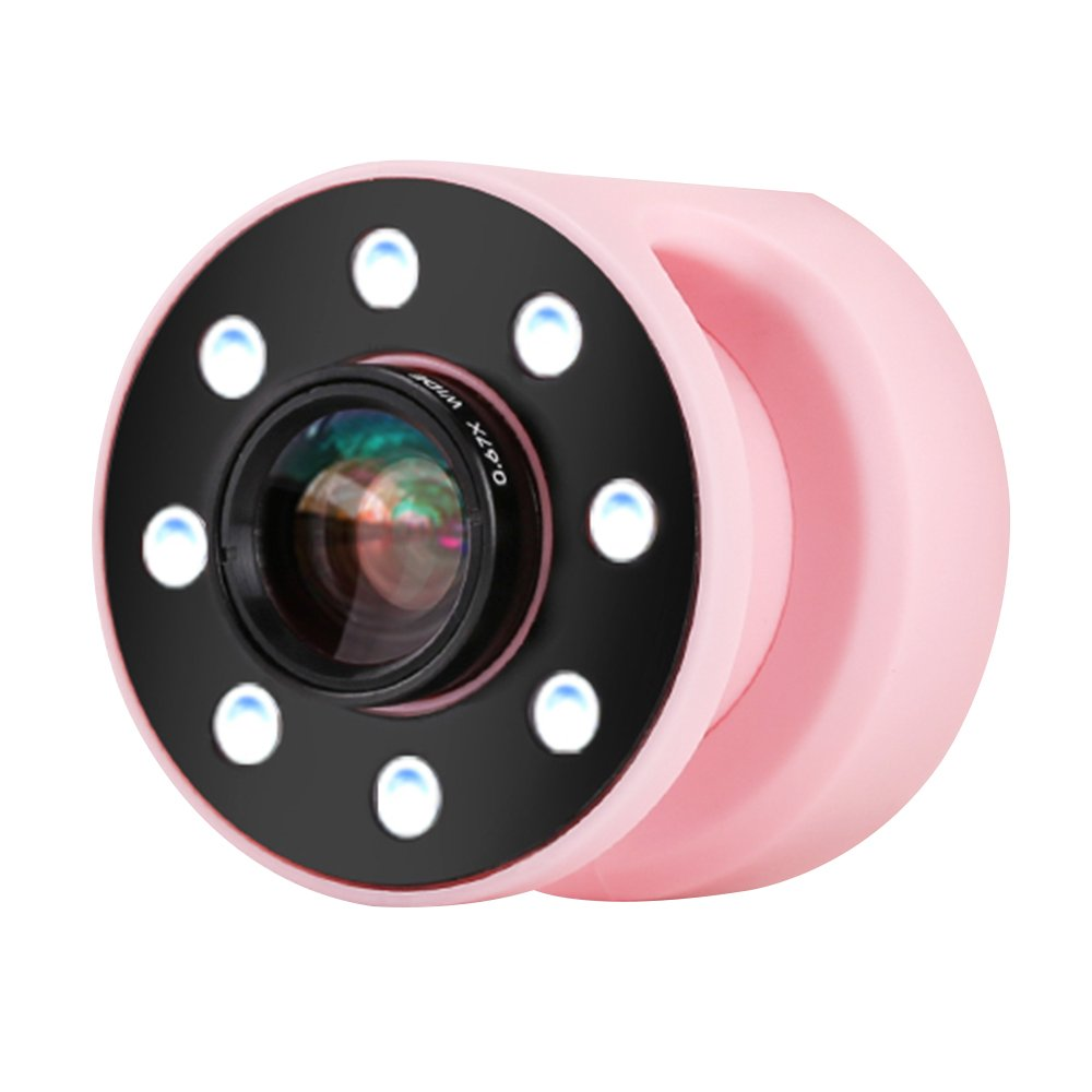 LED Selfie Light, fengus Supplementary Lighting Night or Darkness Selfie Enhancing Fill in Ring Light+0.67X Wide Angle Lens+10X Microspur 4 Gears Brightness for iPhone/iPad/Android Smartphones(Pink) by fengus