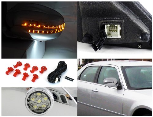 spec-d Tuning rmu-30005cr-p Dodge Magnum RT se Chrysler 300 cromo Potencia plegable lateral espejos LED intermitente: Amazon.es: Coche y moto