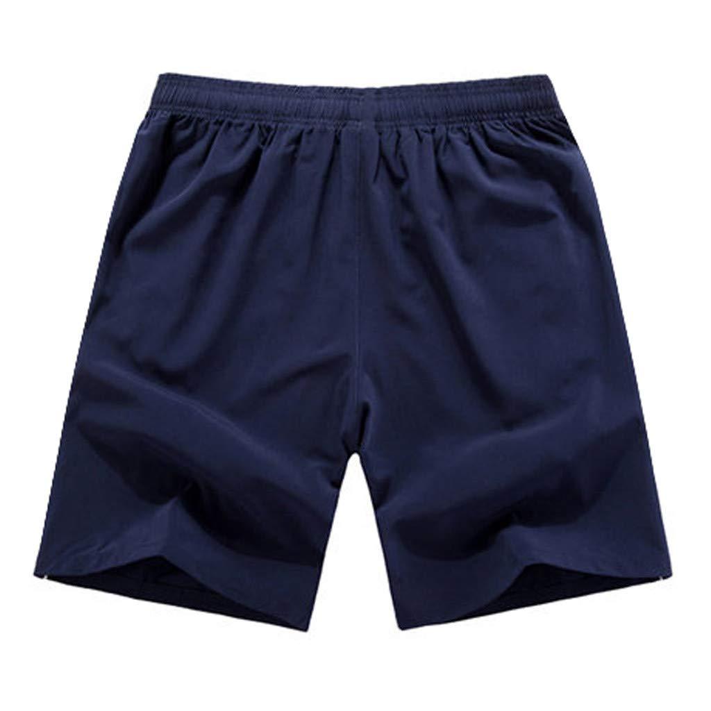 Pantalones Cortos para Hombre Suelto Casuales Talla Grande Moda Color S/ólido Deportivos Fitness Correr Secado r/ápido C/ómodo Transpirables Playa Cortos de Verano MMUJERY