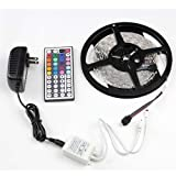 eBoTrade 5M/16.4 Ft SMD 3528 RGB 300 LED Color Changing Kit with Flexible ...