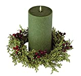 Sullivans Candle Ring Mini Leaf and Berry